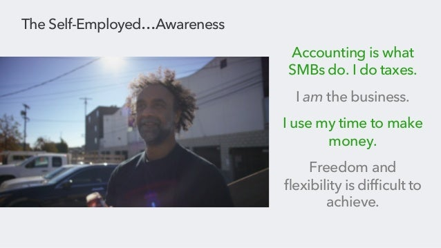Intuit: #SelfEmployed awareness campaign, presented by Geoff Morgan Slide 3