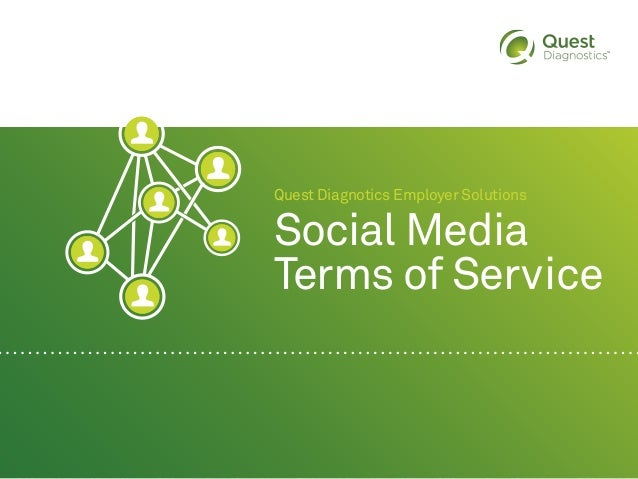 Quest Diagnotics Employer Solutions Social Media Terms of Service