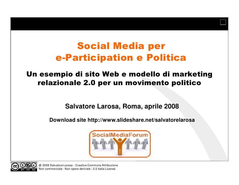 Social media per e participation e politica un esempio di for Sito web per la progettazione di mobili
