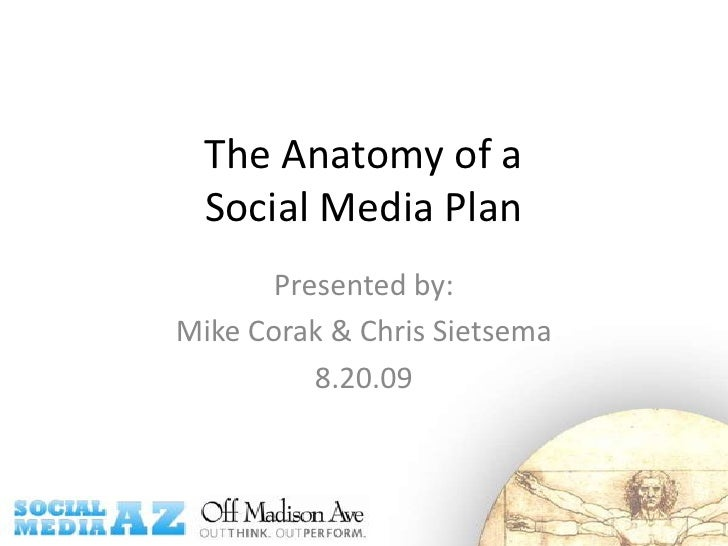 The Anatomy of a Social Media Plan<br />Presented by: <br />Mike Corak & Chris Sietsema<br />8.20.09<br />