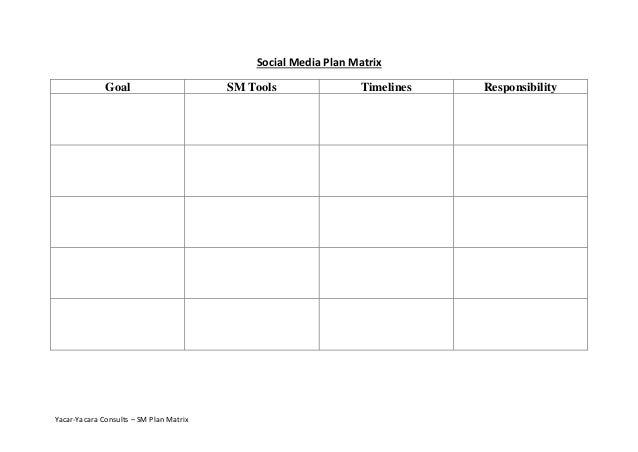 Social Media Planning Template