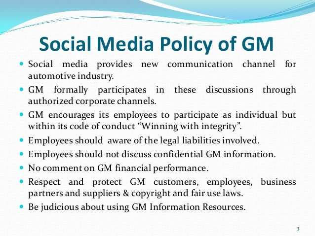 Social media policies of big companies group 8 – Social Media Policy