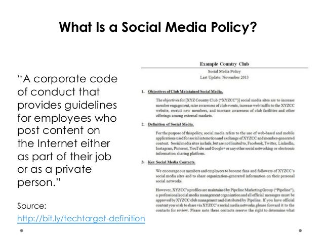 Introduction To Social Media Policy