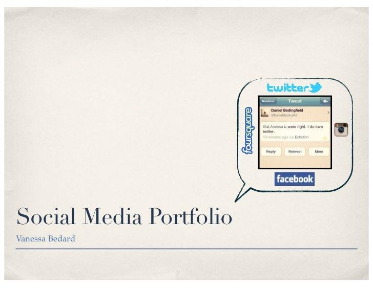 Social Media PortfolioVanessa Bedard
