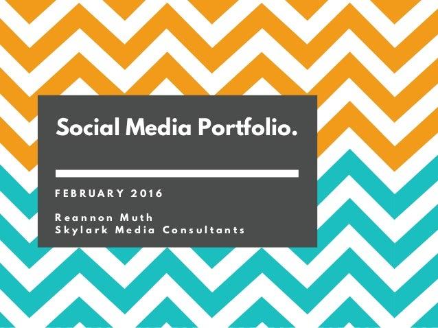 Portfólio Social Media - 2016-7 on Behance