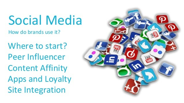Social Media  How do brands use it?  Where to start?  Peer Influencer  Content Affinity  Apps and Loyalty  Site Integratio...