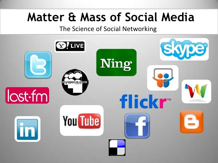 Matter & Mass of Social Media<br />The Science of Social Networking<br />