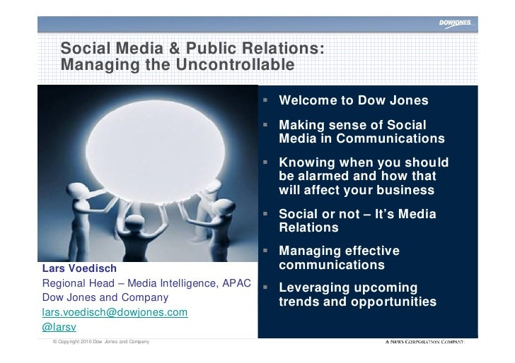 Social Media & Public Relations:     Managing the Uncontrollable                                              Welcome to ...