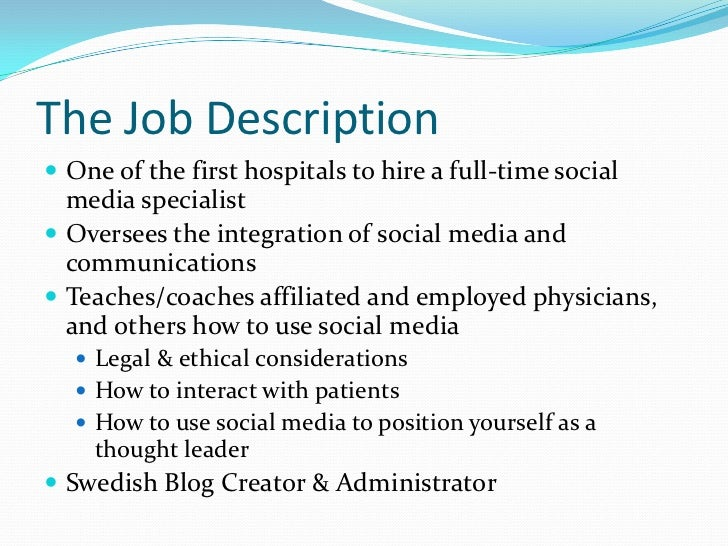 Social Media Practices Of AmericaS Top Hospitals