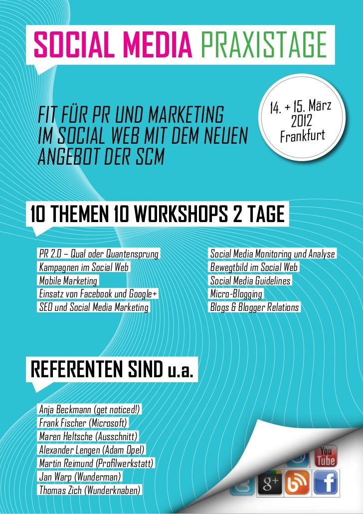 SOCIAL MEDIA PRAXISTAGE                                                    14. + 15. MärzFIT FüR PR und MARkETInG         ...