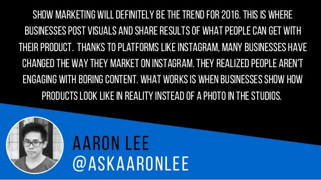 @AL E W I T E S Ad a m L e wi t e s 2016is the year where insights and data from social media will be incorporated into al...