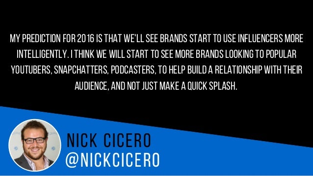 @N I C K AT L O O T N i c k h a a s e In 2016we will see the deepest engagement tools ever created on social,360 interacti...