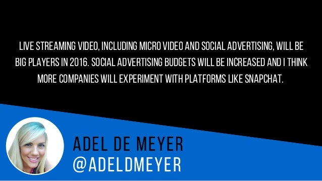 @AH N AH E N D R I X Ah n a H e n d r i x Facebook will be the most important social media channel in 2016because they're ...
