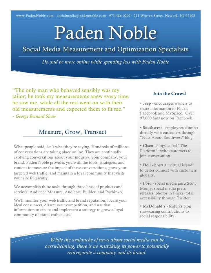 www.PadenNoble.com - socialmedia@padennoble.com - 973-486-0207 - 211 Warren Street, Newark, NJ 07103                      ...