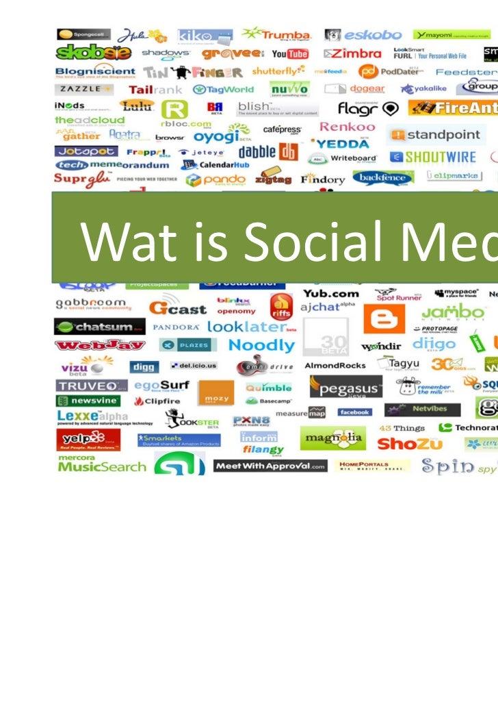 Social media presentatie Slide 3