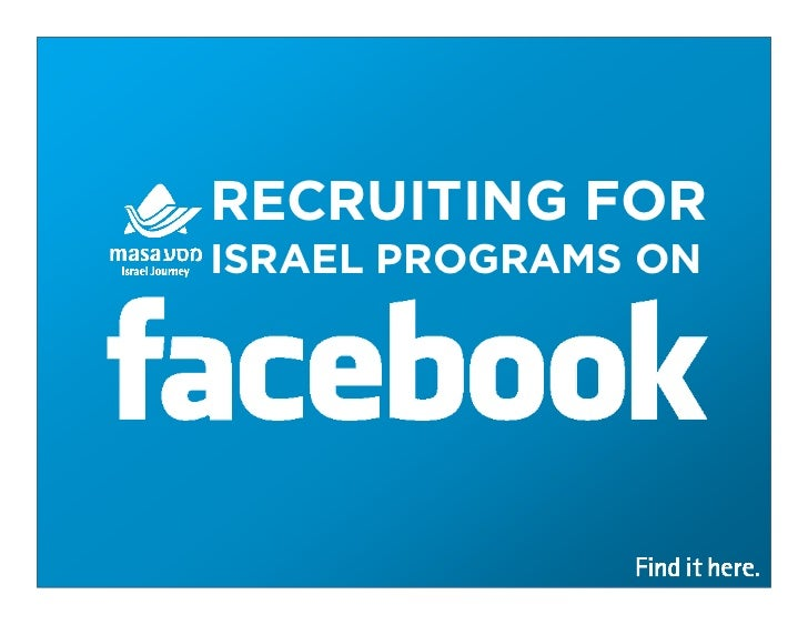 RECRUITING FORISRAEL PROGRAMS ON