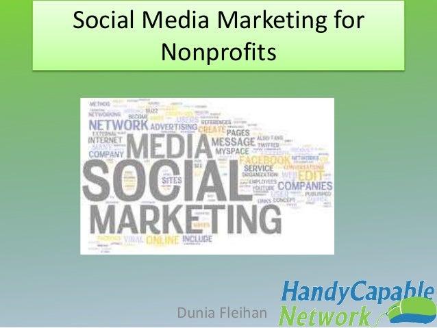 Social Media Marketing for Nonprofits Dunia Fleihan