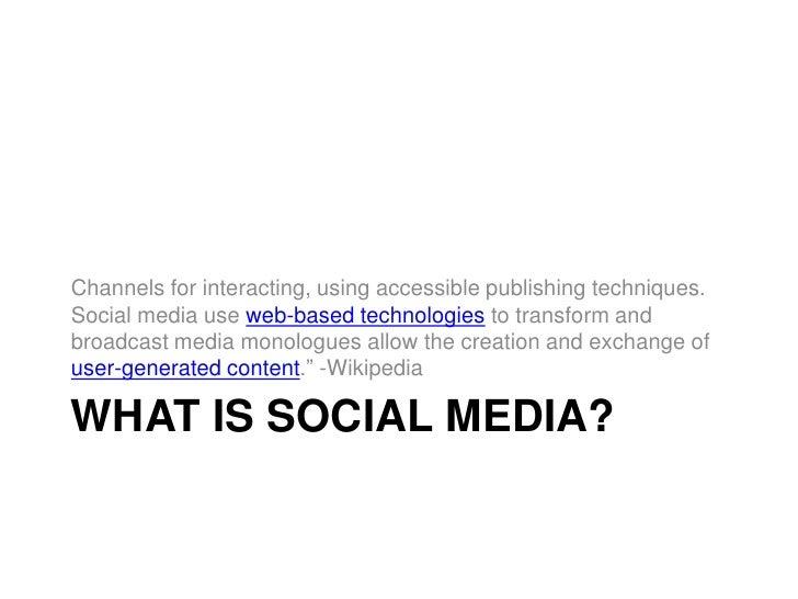 Social Media Slides For Your Presentation