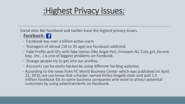 media and privacy issues