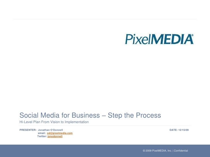 Social Media for Business – Step the Process<br />Hi-Level Plan From Vision to Implementation<br /> Jonathan O'Donnell ema...