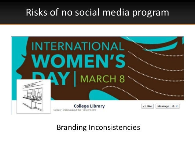 Risks of no social media programBranding Inconsistencies
