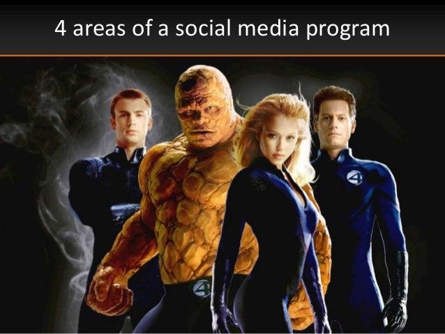 4 areas of a social media program