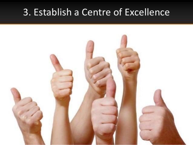 3. Establish a Centre of Excellence