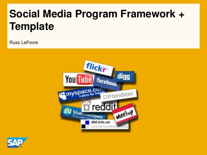 Social media program framework template slideshare for Social media policy template for schools