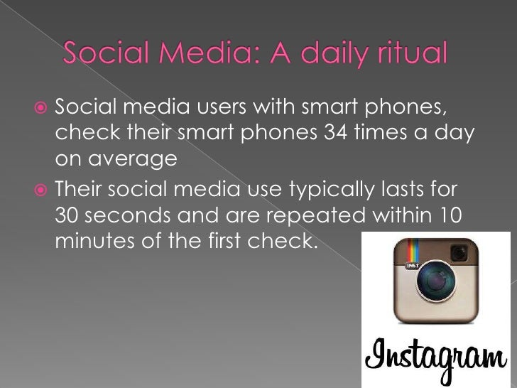 This constant need  to be connectedthrough social media outlets is supported  by the immediatefeedback creating a       f...