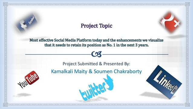 Social Media Project Presentation Ppt For Niit