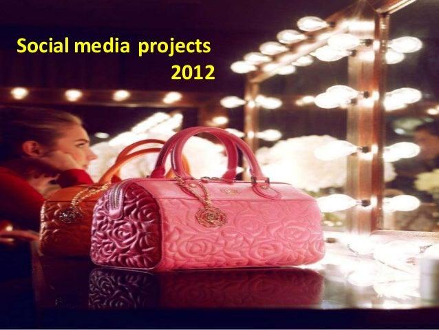 Social media projects                2012