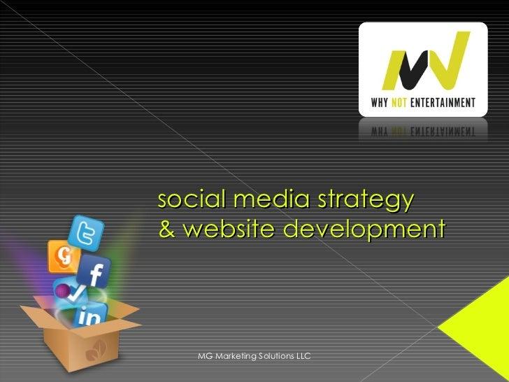 social media strategy & website development MG Marketing Solutions LLC