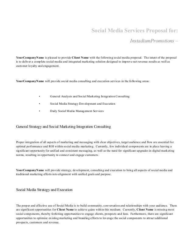 social media marketing dissertation proposal An exploratory study of social media marketing and traditional media in the irish fashion my thesis i would also like to social media marketing, according to.