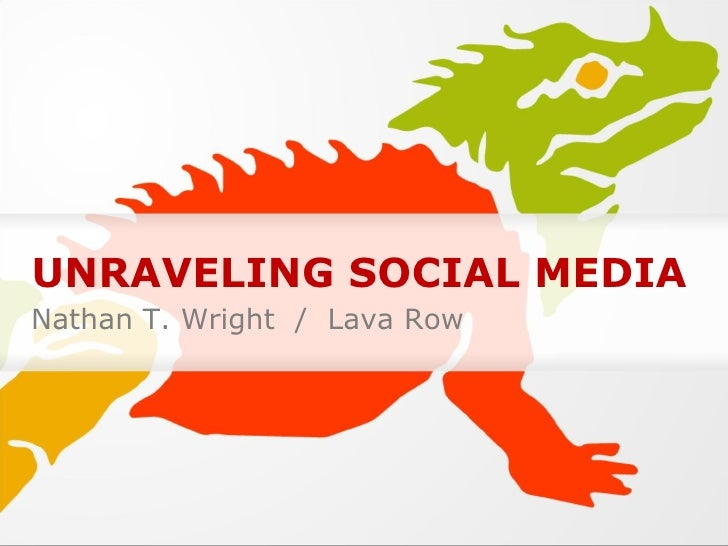 UNRAVELING SOCIAL MEDIA Nathan T. Wright  /  Lava Row
