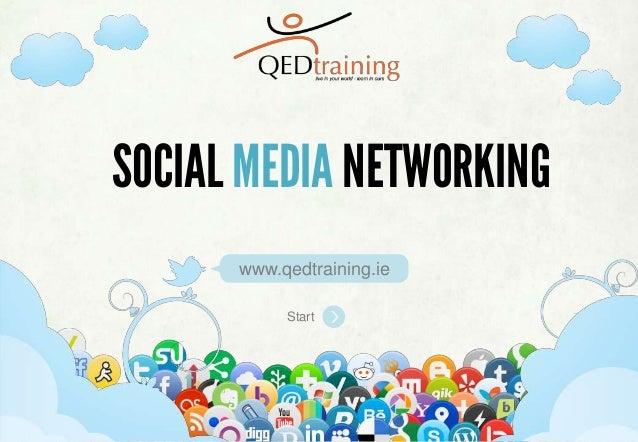 SELECTING & IMPLEMENTING SOCIAL MEDIA STRATEGIESStartwww.qedtraining.ieSOCIALMEDIA NETWORKING