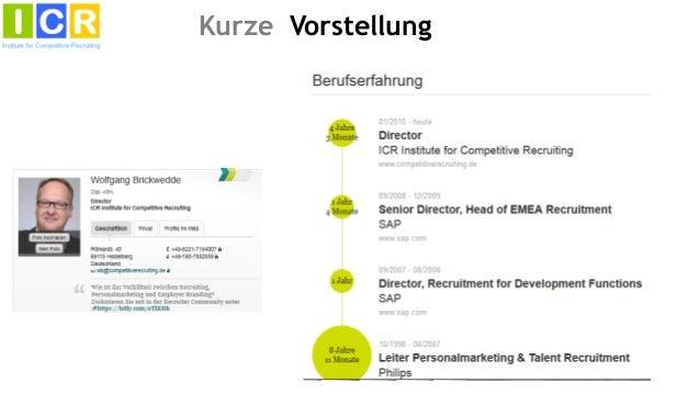 Social Media Recruiting - Hype oder Hilfe?  Key note von Wolfgang Brickwedde Slide 2