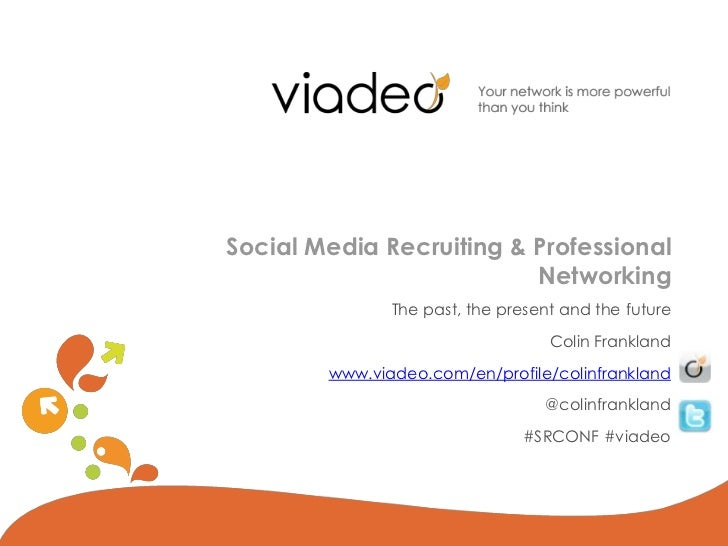 Social Media Recruiting & Professional                          Networking               The past, the present and the fut...