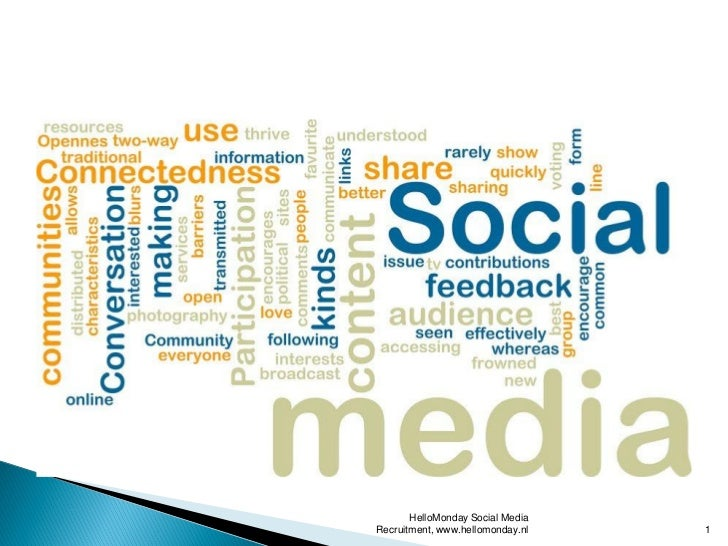 HelloMonday Social MediaRecruitment, www.hellomonday.nl   1