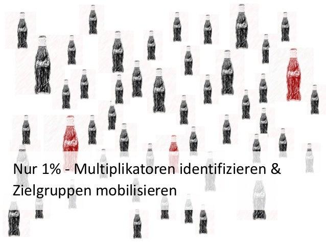 Nur 1% - Multiplikatoren identifizieren &Zielgruppen mobilisieren