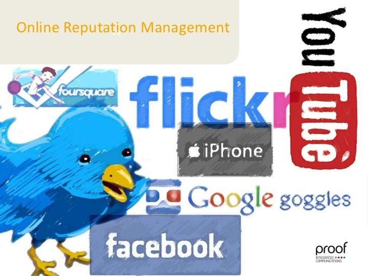 M<br />Online Reputation Management<br />