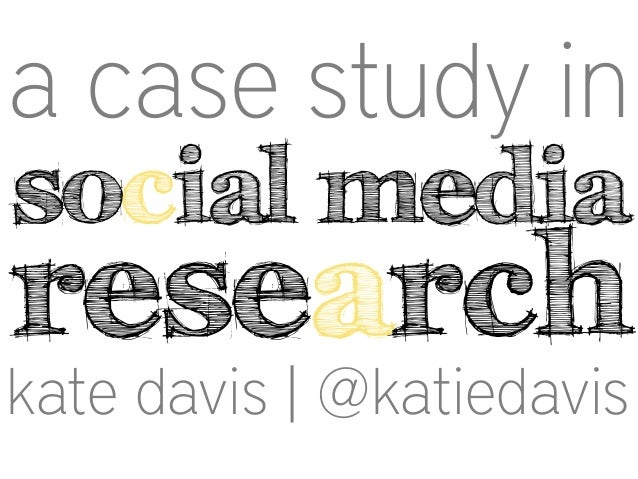A case study in social media research