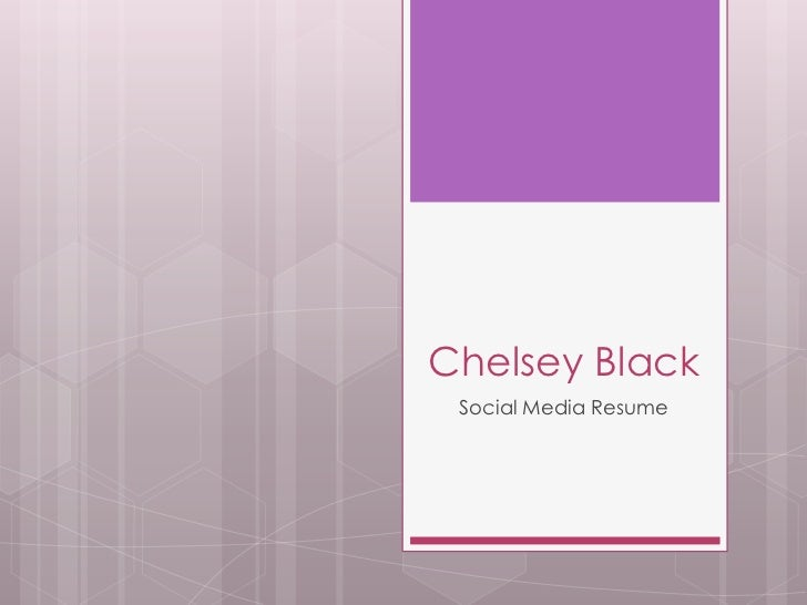 Chelsey Black Social Media Resume