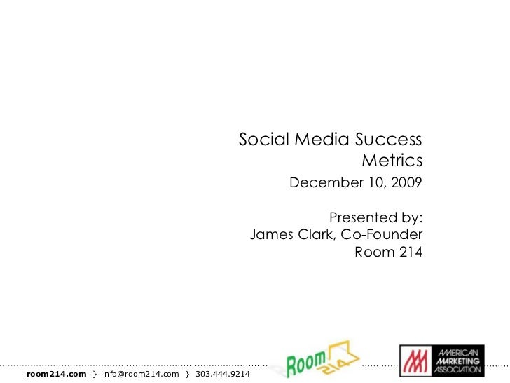 Social Media Success                                                        Metrics                                       ...