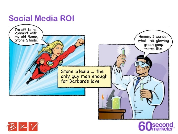 Social Media ROI I'm off to re- connect with my old flame,                           Hmmm. I wonder Stone Steele.         ...