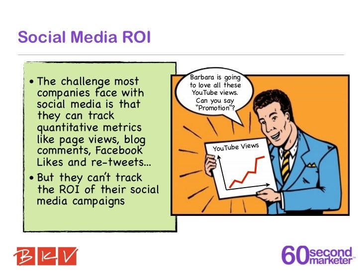 Social Media ROI                             Barbara is going • The challenge most        to love all these   companies fa...