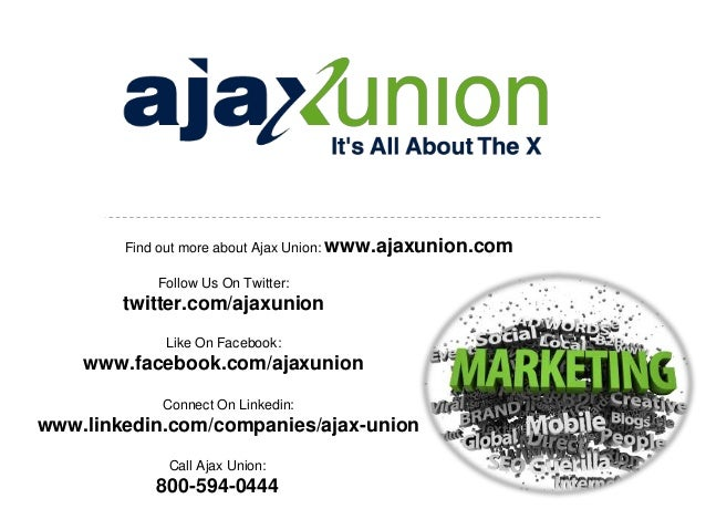 Online Marketing Company Find out more about Ajax Union: www.ajaxunion.com Follow Us On Twitter:  twitter.com/ajaxunion Li...