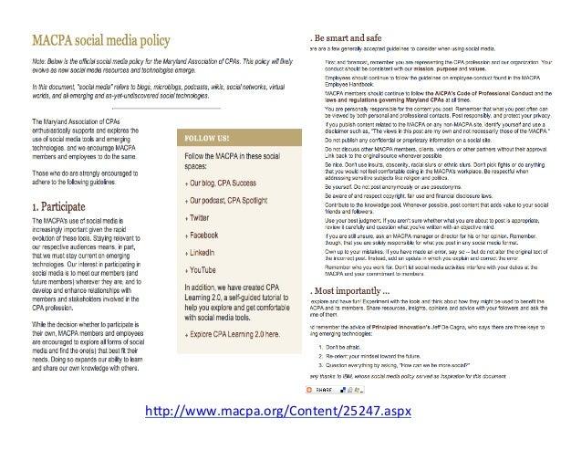 More Resources CPA Success posts about social media h:p://www.cpasuccess.com/social-‐media/ Self-‐dire...