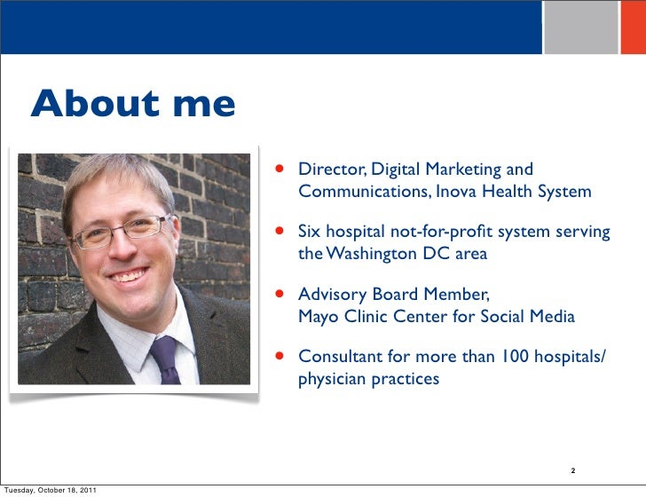 Social Media ROI presentation for the Mayo Clinic conference Slide 2