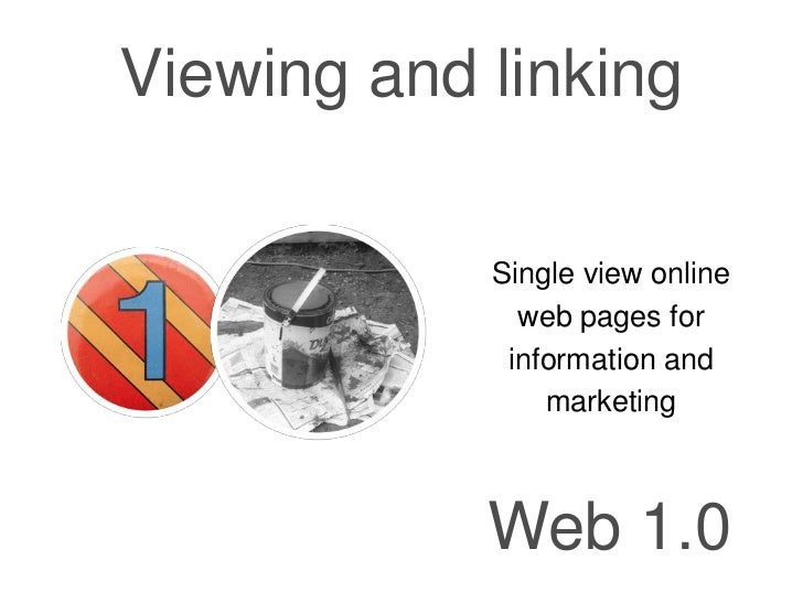 Viewing and linking            Single view online              web pages for             information and                ma...