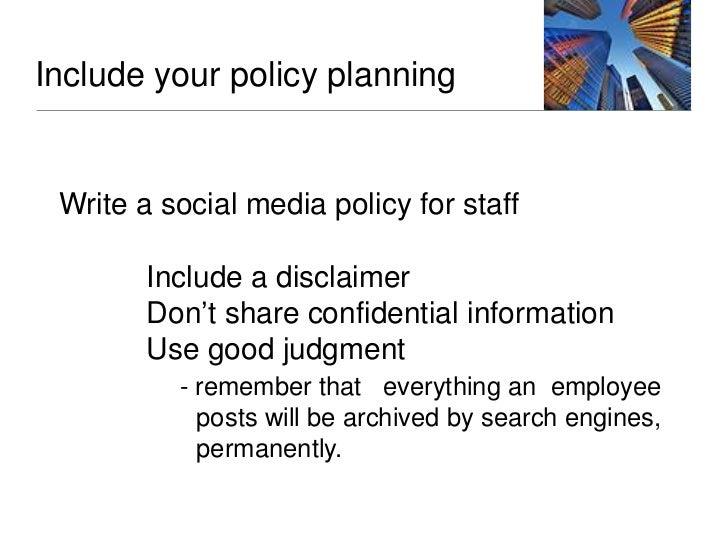 Important elementsGeneral Social Media Best Practices (Overview, Personal Social Media Participation, Site Set-Up,  Site M...
